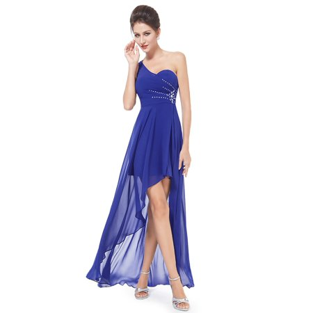 Ever Pretty One Shoulder High Low Homecoming Prom Dress - Halloween Themed Homecoming Dresses