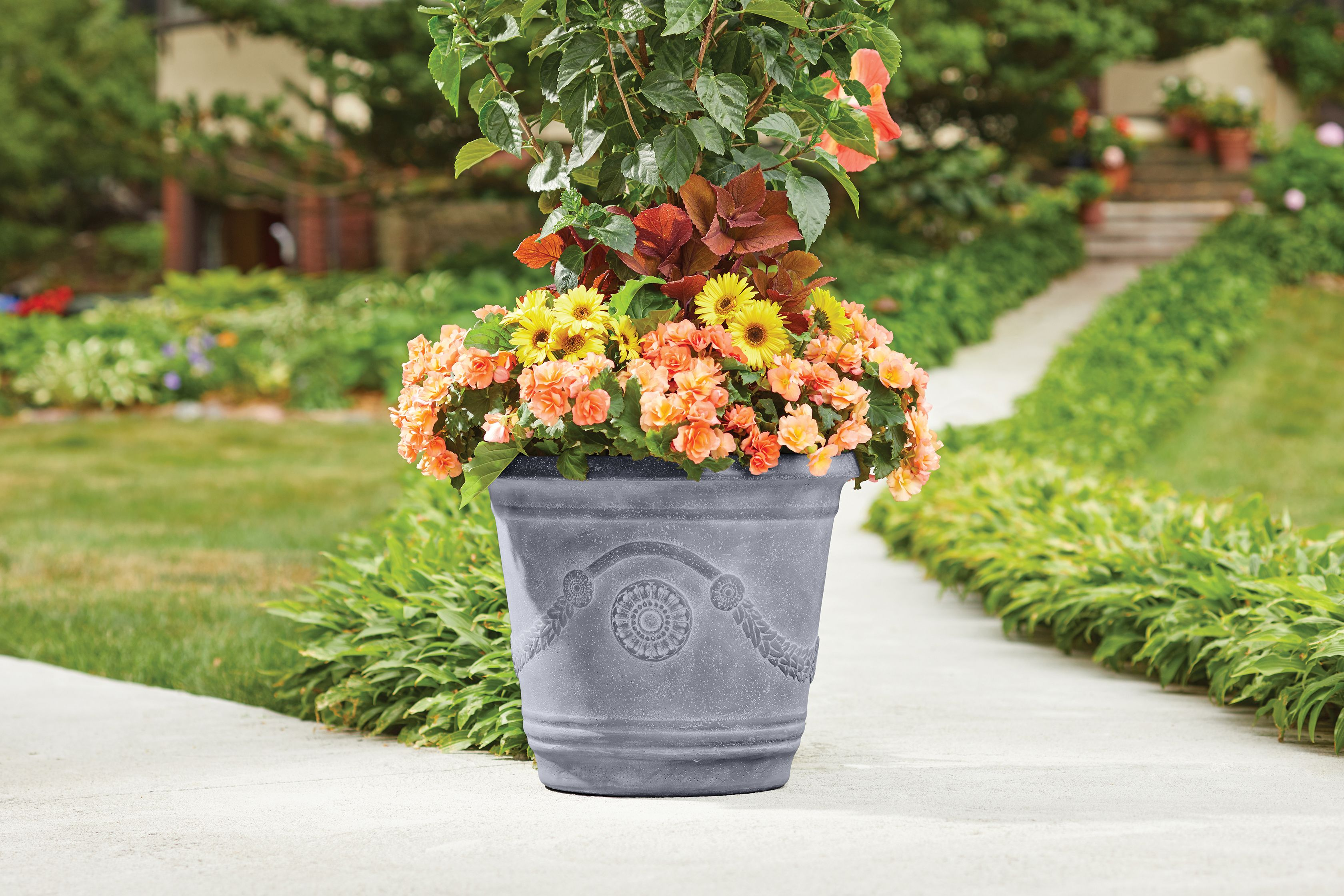 2-Set Better Homes and Gardens Greythorne 20 in. Planter