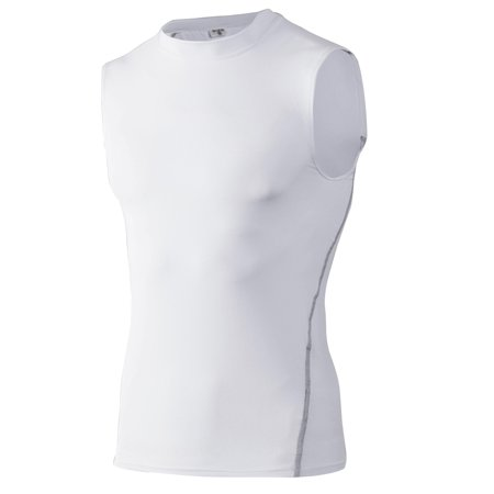 TopTie Mens Compression Sleeveless Base Layer, Athletic Workout (Compression Shirts For Men)