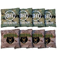 Baylor Bears 8-Piece Operation Hat Trick Regulation Corn-Filled Cornhole Bag Set
