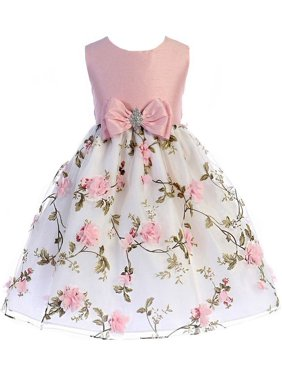 406d1220d23 ... by Sophias Style Boutique Inc. Product Image Crayon Kids Girls Pink  Floral Print Easter Flower Girl Dress