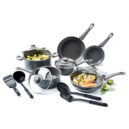 Greenlife Ceramic Non-stick Cookware 14 Piece Cookware Set