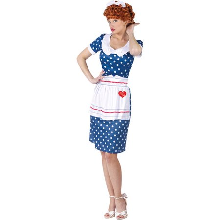 I Love Lucy Sassy Lucy Adult Halloween Costume - Prisoner Of Love Costume Halloween
