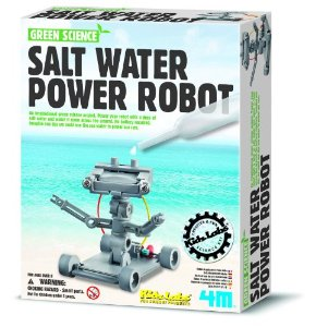4M Salt Water Powered Robot Kit by Toysmith
