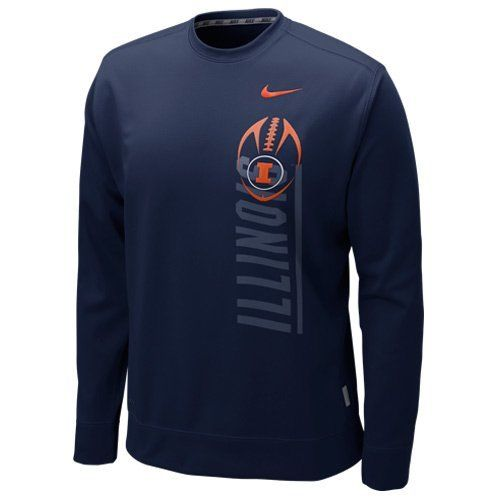 Illinois Fighting Illini Football Nike Performance Men's Crew Sweatshirt Small