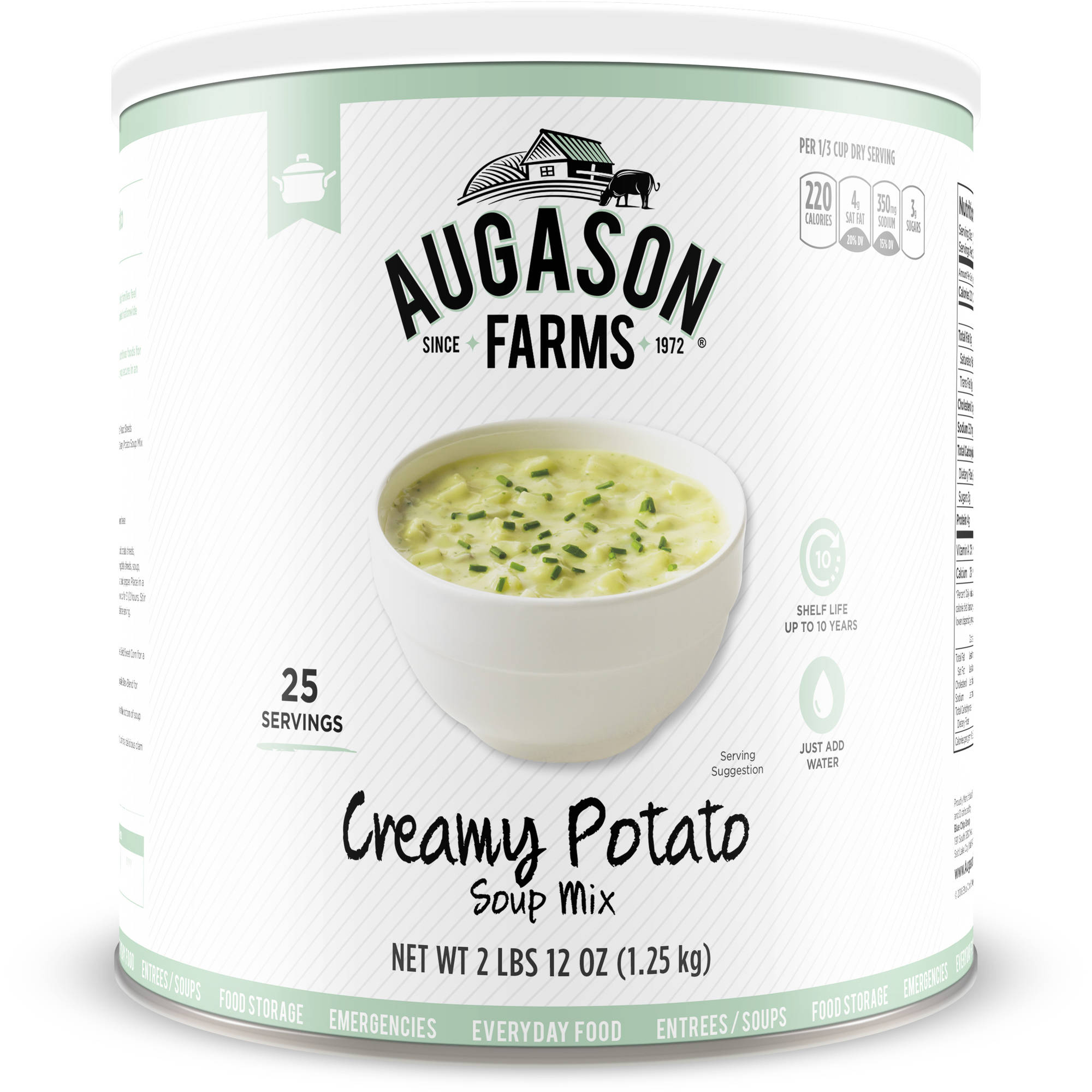 Augason Farms Emergency Food Creamy Potato Soup Mix, 3 lbs