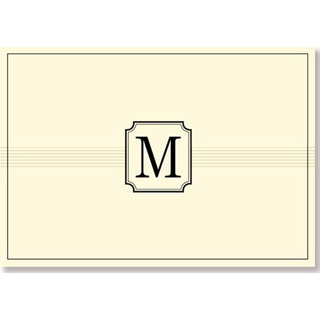 Monogram Note Cards 'm' (Stationery, Boxed Cards)