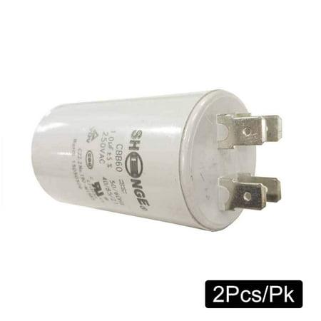 Superior Electric CMC7001-2PK 10MFD +/-5% 50Hz/60Hz AC 250V Cylinder Motor Running Capacitor
