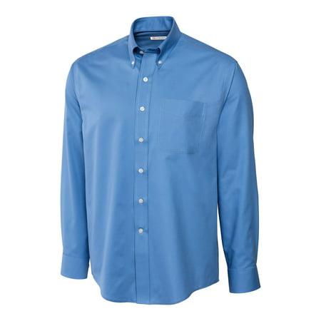 (Cutter & Buck Men's Big and Tall Long Sleeve Epic Fine Twill Shirt)