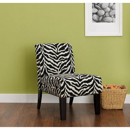 hometrends accent chair zebra print walmart com