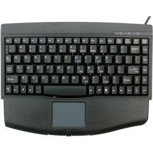 USB SOLIDTEK KB-540BU ACK540U MINI PORTABLE KB W/TOUCHPAD BLACK