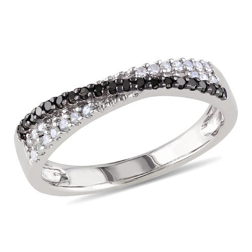 Amour 1/4 Carat Sterling Silver Diamond Fashion Ring
