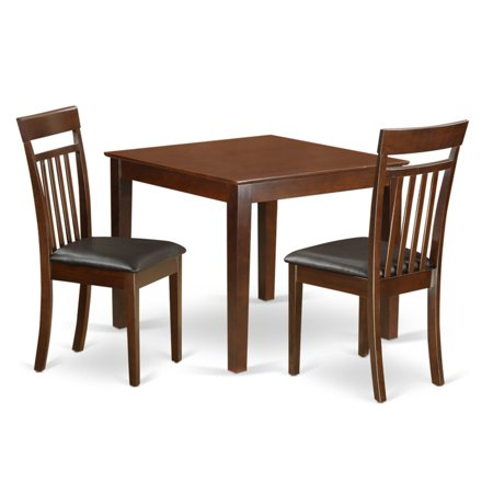 East West Furniture 3 Piece Sheraton Modern Breakfast Nook Dining