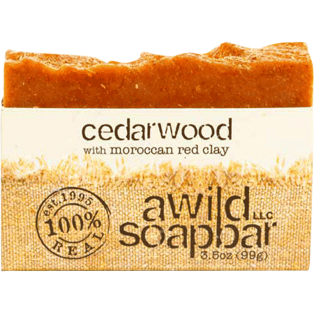 Organic Cedarwood Organic Soap Barby A Wild Soap Bar