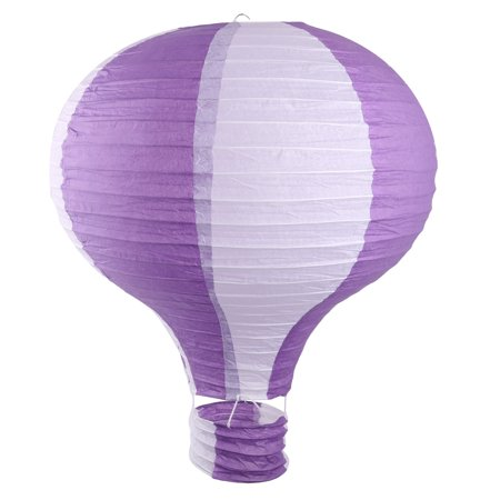 Paper Lightless Hanging Decor Hot Air Balloon Lantern Purple White 16 Inch Dia](Hot Air Balloon Lanterns)