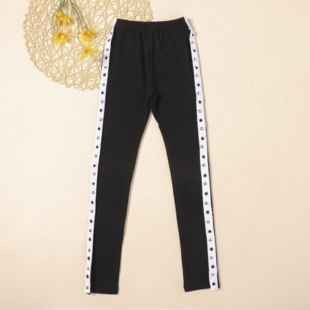 Women Spring and Autumn New Style Black and White Striped Casual Sweatpants Pants
