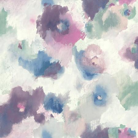 RoomMates Impressionist Floral Peel & Stick Wallpaper