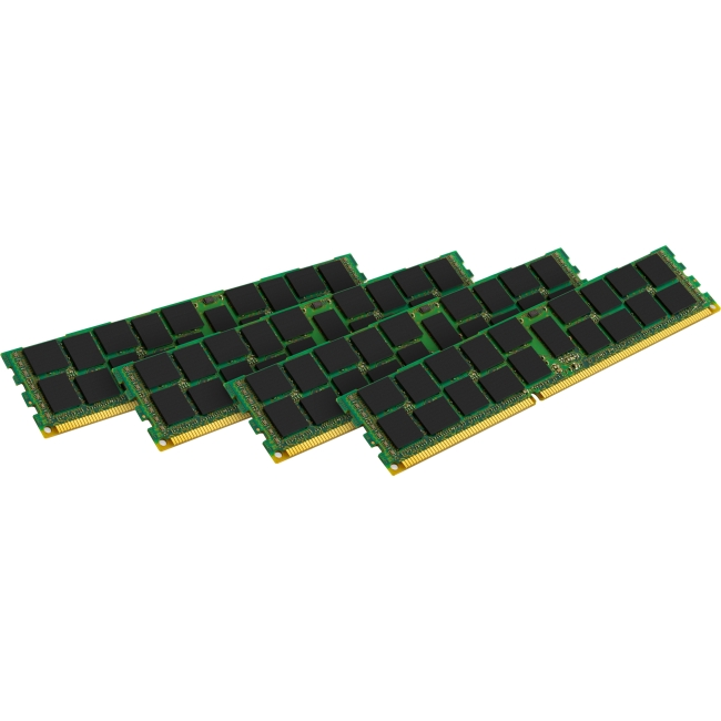 Kingston Technology Kingston ValueRAM 4 x 8GB 1600MHz DDR3 ECC Reg CL11 DIMM SR x4 with TS Desktop Memory Modules (KVR16R11S4K4/