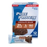 Pure Protein Bars, Chocolate Deluxe, 21g Protein, 1.76 Oz, 12 Ct