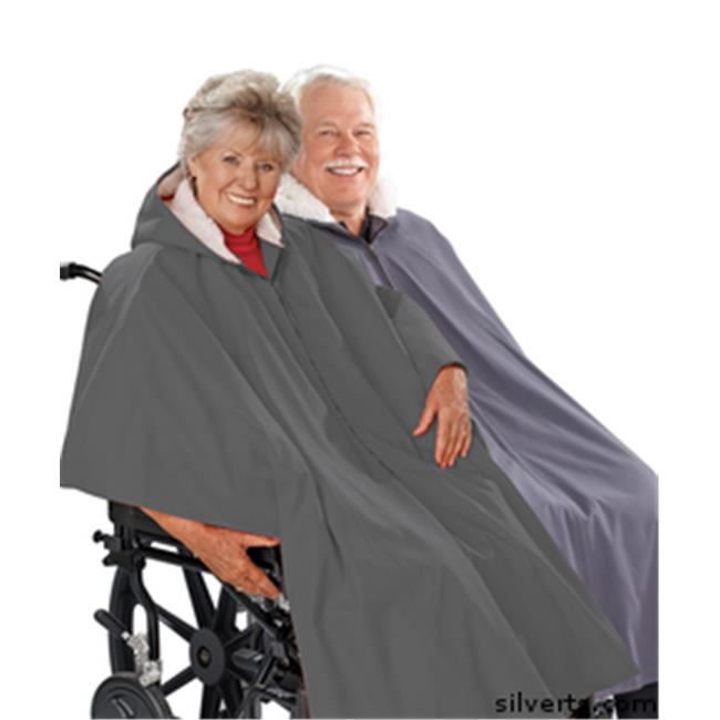 Silverts 270000501 Mens Wheelchair Cape & Womens Wheelchair Cape Clothing Poncho Lined Cape One, Grey by Silverts