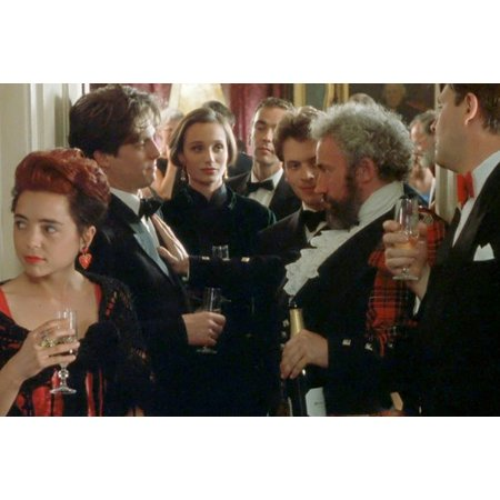 Hugh Grant and Simon Callow and Kristin Scott Thomas in Four Weddings and a Funeral 24x36