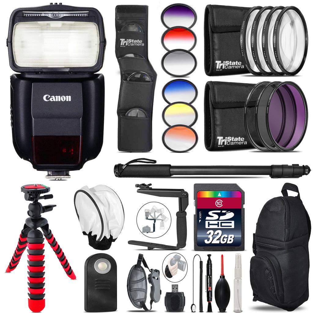 Canon 430EX III-RT Speedlite Flash for 6D 80D 7D T7i 70D 5D+ 32GB - 77mm Kit