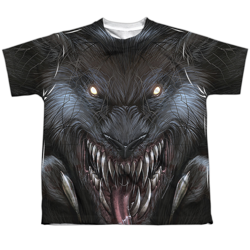 Zenescope Werewolf (Front Back Print) Big Boys Sublimation Shirt