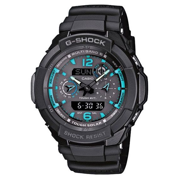 Casio Men's G-Shock Black Aviator Series Analog-Digital W...