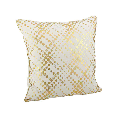 Saro Metallic Foil Print Pillow - 20-inch