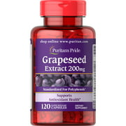 Puritan's Pride Grapeseed Extract 200 mg-120 Capsules