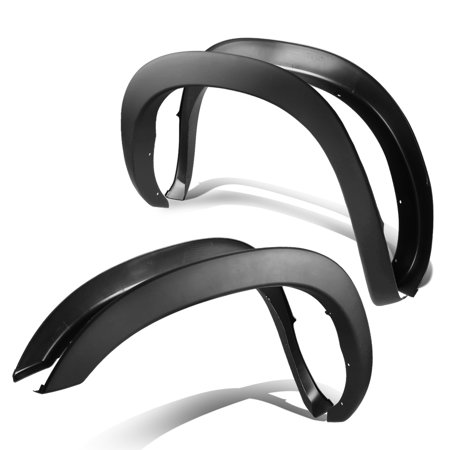 Fender Flares For 02-08 Dodge Ram 3rd Gen Factory Style - 4 Pieces Paintable ABS Smooth Wheel Fender Flares (Black)