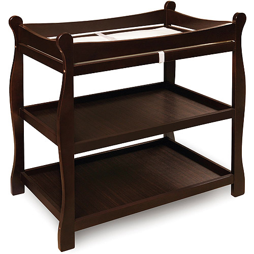 Badger Basket Sleigh Changing Table, Espresso