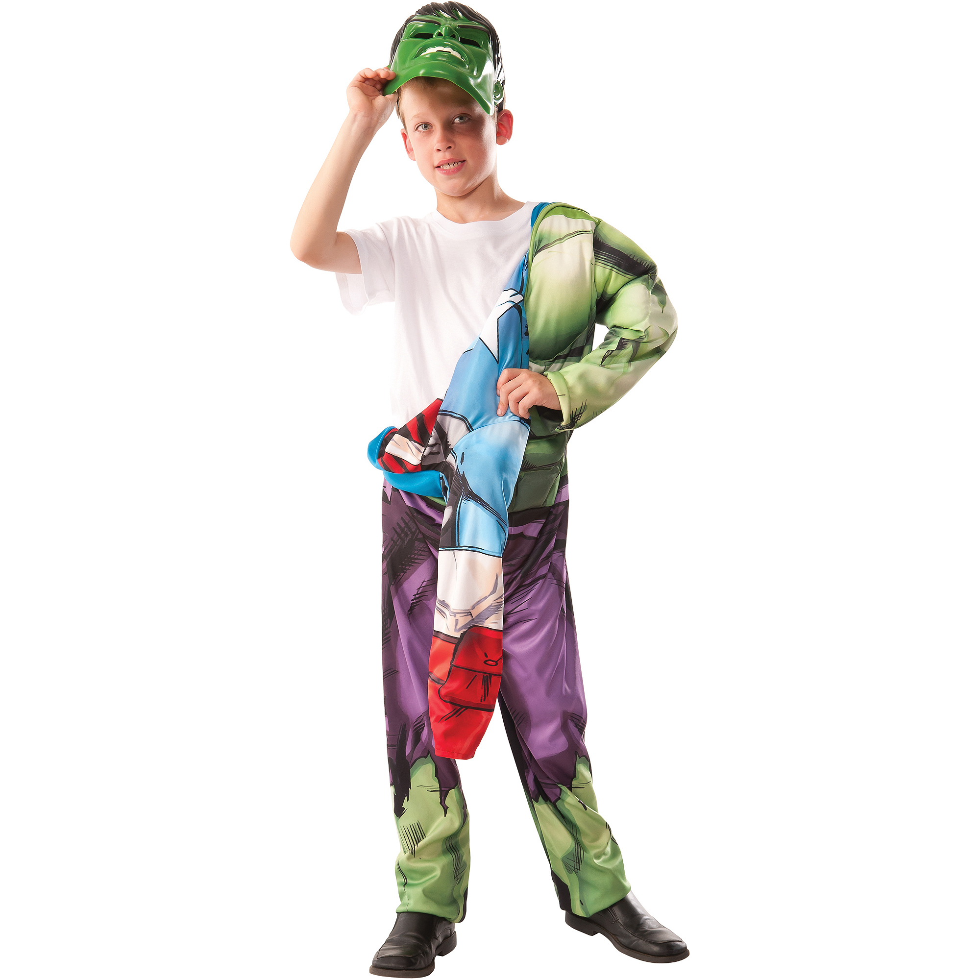 Avengers 2-In-1 Hulk/Captain America Reversible Child Halloween Costume