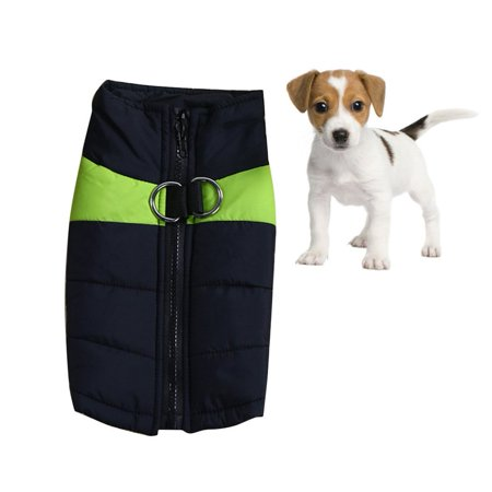 Medium Dog Coat - NEW Winter Dog Warm Vest Fashion Pet Down Jacket Thick Cotton Dog Clothes Outdoor Waterproof Coat For Small Medium Large XL Dogs(Green)