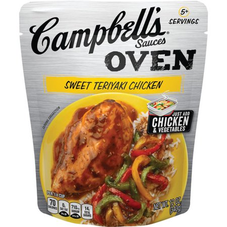 (2 Pack) Campbell's Oven Sauces Sweet Teriyaki Chicken, 12 (Blended Chicken Sauce)
