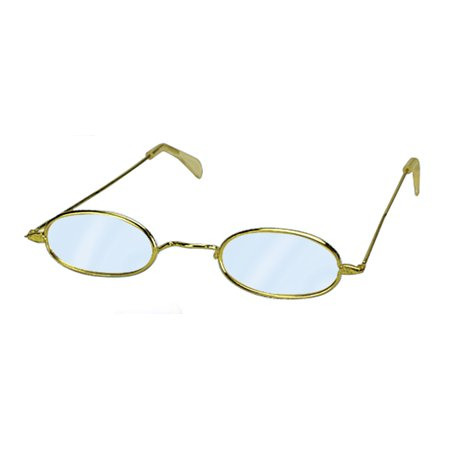 Loftus Women Mrs Claus Oval Old Granny Costume Glasses, Gold, One Size