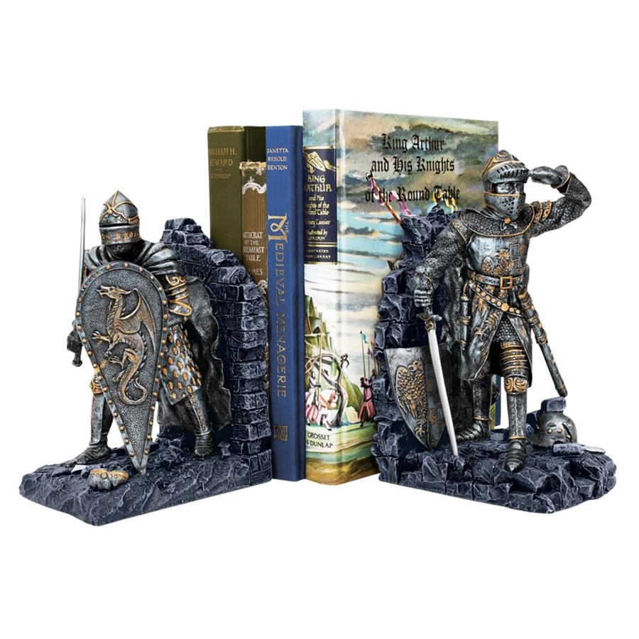Arthurian Knight Bookends by Design Toscano