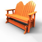 Double Glider by Malibu Outdoor - Yarmouth, Tangerine