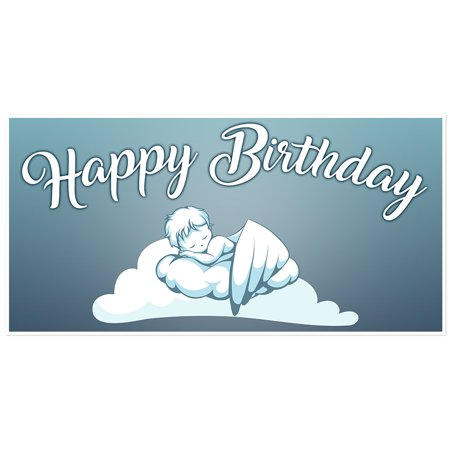 Sleeping Angel Birthday Banner