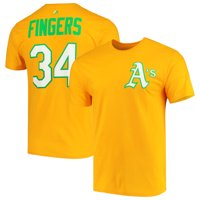Rollie Fingers Oakland Athletics Majestic Cooperstown Collection Official Name & Number T-Shirt - Gold