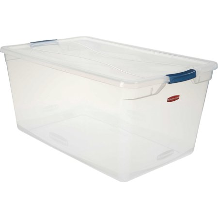 Rubbermaid Latching Clever Store Container RMCC950001, 95 Qt, - Rubbermaid Keepsake Box