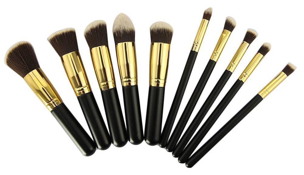 d1bc787631aa 10 pcs Makeup Brushes Set Eye-shadow Eyeliner Lip Brush Powder Foundation  Tool