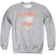 Airplane Trans American Mens Crewneck Sweatshirt