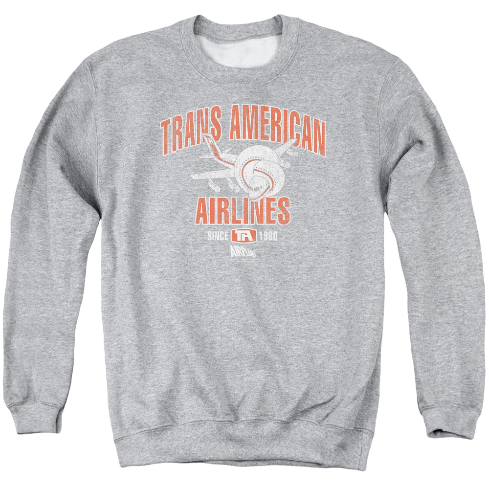 Airplane Trans American Mens Crewneck Sweatshirt