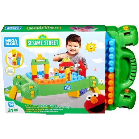 Blomus Table - Mega Bloks Sesame Street Build & Learn Neighborhood Table