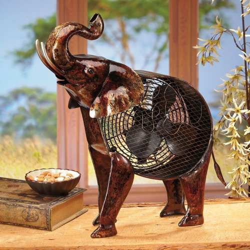 Deco Breeze DBF2007 Figurine Fan - African Elephant