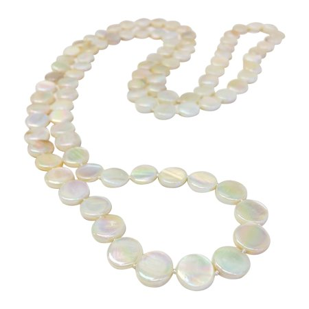 Garnet Mother Of Pearl (OYSTER BAY COLLECTION Ivory Double Strand Mother-of-Pearl Necklace)
