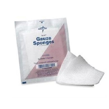 Top sponge, sterile 2's, gauze cover with cellulose fill, 4
