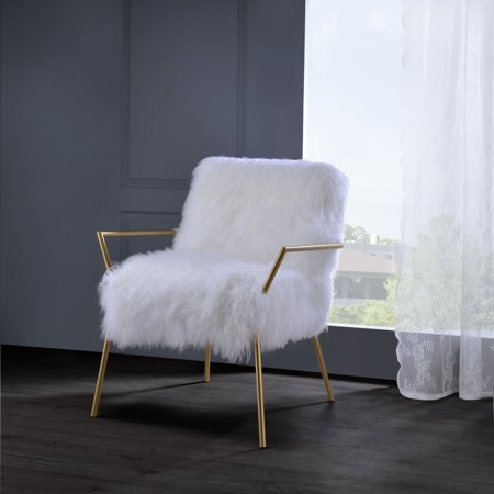 Cool Acme Bagley Accent Chair Wool And Gold Brass Evergreenethics Interior Chair Design Evergreenethicsorg