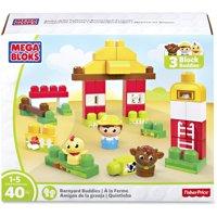 Mega Bloks, MBLDPY50, Barnyard Buddies Building Blocks Set, 1 Each, Multi